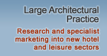 Large Architectural Practice – Research and specialist marketing into new hotel and leisure sectors