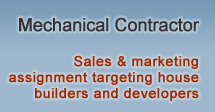 Mechanical Contractor - Sales & marketing assignment targeting house builders and developers